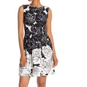Floral Scuba Sleeveless Dress